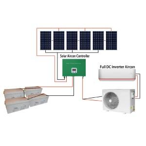 Hybrid ACDC Solar Air Conditioner